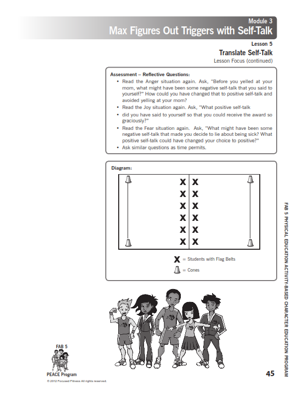 Social emotional physical activity emotions character education